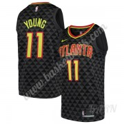 Barn NBA Tröja Atlanta Hawks 2019-20 Trae Young 11# Svart Icon Edition Swingman..