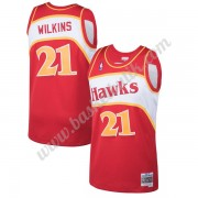 Atlanta Hawks Basket Tröja 1986-87 Dominique Wilkins 21# Röd Hardwood Classics Swingman..