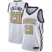 Atlanta Hawks Basket Tröja 2019-20 John Collins 20# Vit City Edition Swingman..