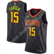 Atlanta Hawks Basket Tröja 2019-20 Vince Carter 15# Svart Icon Edition Swingman..