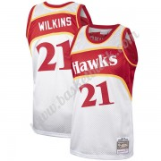 Atlanta Hawks Basket Tröja Dominique Wilkins 21# Platinum Hardwood Classics Swingman..