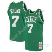 Barn NBA Tröja Boston Celtics 1985-86 Dee Brown 7# Grön Hardwood Classics Swingman..