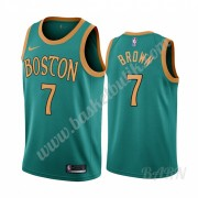 Barn NBA Tröja Boston Celtics 2019-20 Jaylen Brown 7# Grön City Edition Swingman..