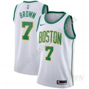 Barn NBA Tröja Boston Celtics 2019-20 Jaylen Brown 7# Vit City Edition Swingman..