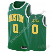 Barn NBA Tröja Boston Celtics 2019-20 Jayson Tatum 0# Grön Earned Edition Swingman..