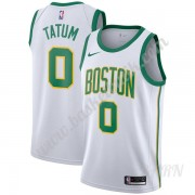 Barn NBA Tröja Boston Celtics 2019-20 Jayson Tatum 0# Vit City Edition Swingman..