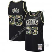 Barn NBA Tröja Boston Celtics Larry Bird 33# Svart Straight Fire Camo Swingman..