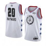 Boston Celtics 2019 Gordon Hayward 20# Vit All Star Game NBA Basketlinne Swingman..