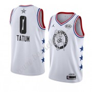 Boston Celtics 2019 Jayson Tatum 0# Vit All Star Game Finished NBA Basketlinne Swingman..