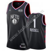 Brooklyn Nets 2019 Dangelo Russell 1# Svart All Star Game NBA Basketlinne Swingman..