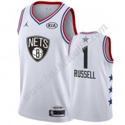 Brooklyn Nets 2019 Dangelo Russell 1# Vit All Star Game NBA Basketlinne Swingman..