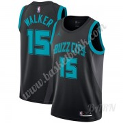 Barn NBA Tröja Charlotte Hornets 2019-20 Kemba Walker 15# Svart City Edition Swingman..