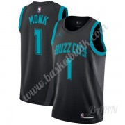 Barn NBA Tröja Charlotte Hornets 2019-20 Malik Monk 1# Svart City Edition Swingman..