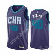Barn NBA Tröja Charlotte Hornets 2019-20 Cody Zeller 40# Lila Statement Edition Swingman..