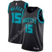 Charlotte Hornets Basket Tröja 2019-20 Kemba Walker 15# Svart City Edition Swingman..