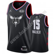 Charlotte Hornets 2019 Kemba Walker 15# Svart All Star Game NBA Basketlinne Swingman..
