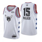 Charlotte Hornets 2019 Kemba Walker 15# Vit All Star Game NBA Basketlinne Swingman..