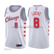 Barn NBA Tröja Chicago Bulls 2018 Zach Lavine 8# City Edition..