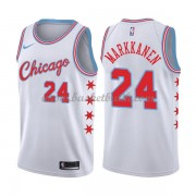 Chicago Bulls Basket Tröja 2018 Lauri Markkanen 24# City Edition..