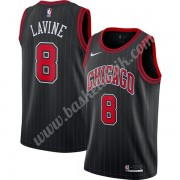 Chicago Bulls Basket Tröja 2019-20 Zach Lavine 8# Svart Finished Statement Edition Swingman