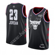 Chicago Bulls 2019 Michael Jordan 23# Svart All Star Game NBA Basketlinne Swingman..