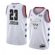 Chicago Bulls 2019 Michael Jordan 23# Vit All Star Game NBA Basketlinne Swingman..