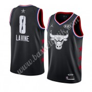 Chicago Bulls 2019 Zach Lavine 8# Svart All Star Game NBA Basketlinne Swingman..