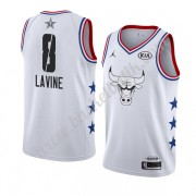 Chicago Bulls 2019 Zach Lavine 8# Vit All Star Game NBA Basketlinne Swingman..