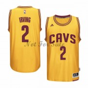 Cleveland Cavaliers Basket Tröja Kyrie Irving 2# Gold Alternate..