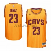 Cleveland Cavaliers Basket Linne LeBron James 23# Gold Alternate..