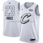 Cleveland Cavaliers LeBron James 23# Vit 2018 All Star Game NBA Basketlinne..