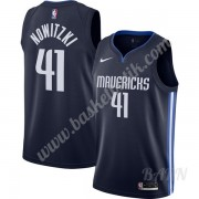 Barn NBA Tröja Dallas Mavericks 2019-20 Dirk Nowitzki 41# Marinblå Finished Statement Edition Swingman