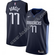 Dallas Mavericks Basket Tröja 2019-20 Luka Doncic 77# Marinblå Finished Statement Edition Swingman..