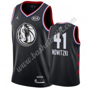 Dallas Mavericks 2019 Dirk Nowitzki 41# Svart All Star Game NBA Basketlinne Swingman..