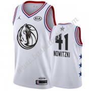 Dallas Mavericks 2019 Dirk Nowitzki 41# Vit All Star Game NBA Basketlinne Swingman..