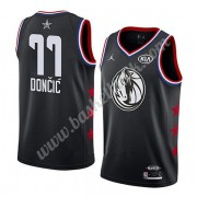 Dallas Mavericks 2019 Luka Doncic 77# Svart All Star Game NBA Basketlinne Swingman..