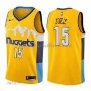 Barn NBA Tröja Denver Nuggets 2018 Nikola Jokic 15# Statement Edition..