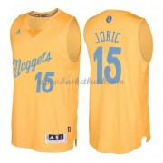 Denver Nuggets Basketkläder 2016 Nikola Jokic 15# NBA Jultröja..