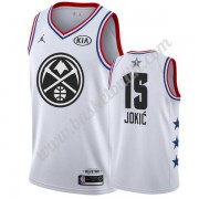 Denver Nuggets 2019 Nikola Jokic 15# Vit All Star Game NBA Basketlinne Swingman..