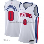 Barn NBA Tröja Detroit Pistons 2018 Andre Drummond 0# Association Edition..