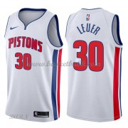 Barn NBA Tröja Detroit Pistons 2018 Jon Leuer 30# Association Edition..