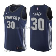 Barn NBA Tröja Detroit Pistons 2018 Jon Leuer 30# City Edition..