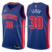 Barn NBA Tröja Detroit Pistons 2018 Jon Leuer 30# Icon Edition..