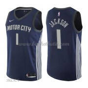 Barn NBA Tröja Detroit Pistons 2018 Reggie Jackson 1# City Edition..