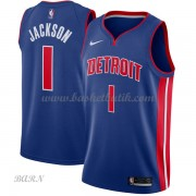 Barn NBA Tröja Detroit Pistons 2018 Reggie Jackson 1# Icon Edition..