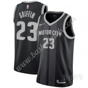 Barn NBA Tröja Detroit Pistons 2019-20 Blake Griffin 23# Svart City Edition Swingman..