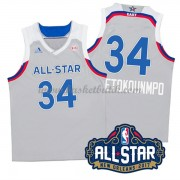 East All Star Game 2017 Giannis Antetokounmpo 34# NBA Basketlinne..
