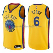 Barn NBA Tröja Golden State Warriors 2018 Nick Young 6# City Edition..