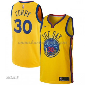 Barn NBA Tröja Golden State Warriors 2018 Stephen Curry 30# City Edition