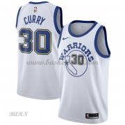 Barn NBA Tröja Golden State Warriors 2018 Stephen Curry 30# Vit Hardwood Classics..